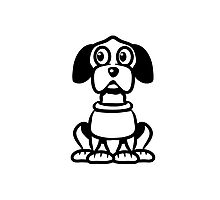 funny cute dog Photographic Print