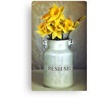Milk Jug and Daffodils  Canvas Print