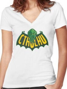 Cthulhu Man Women's Fitted V-Neck T-Shirt
