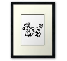 wag dog funny cock Framed Print