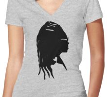 Black Storm Women's Fitted V-Neck T-Shirt