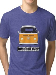 Best Dad Ever Orange Early Bay Tri-blend T-Shirt