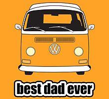 Best Dad Ever Orange Early Bay by splashgti