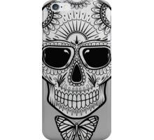 Candy Skull-white iPhone Case/Skin