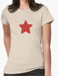 red star shirt Womens Fitted T-Shirt