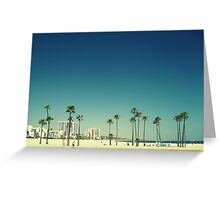 Summer Beach Blue Greeting Card