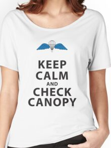 KEEP CALM AND CHECK CANOPY Women's Relaxed Fit T-Shirt