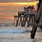 Huntington Beach Pier  by K D Graves Photography