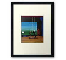 Clowns Fighting For Your Vote Framed Print