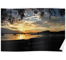 View of a Bribie Sunset Poster
