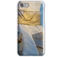 Ribboned Gown - Blue and Gold iPhone Case/Skin