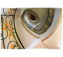 Art Nouveau Staircase 2  Berlin Poster
