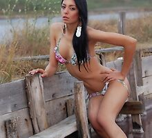 Gorgeous girl in swimwear photo session by dmjeckov