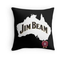 jim beam aussie Throw Pillow