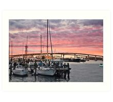 Sunset in Nassau Art Print