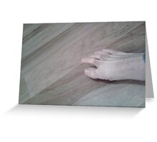 Finger Toes Greeting Card