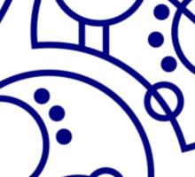 'Bad Wolf' in Gallifreyan - Blue Sticker