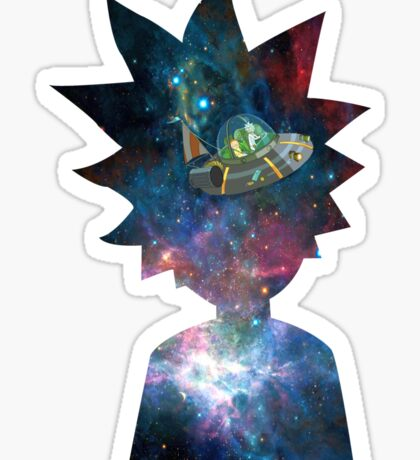 Rick and Morty Space Ship Sticker