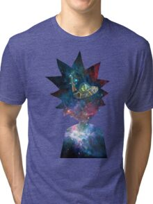 Rick and Morty Space Ship Tri-blend T-Shirt