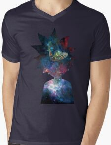 Rick and Morty Space Ship Mens V-Neck T-Shirt