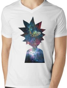 Rick and Morty Space Ship Mens V-Neck T-Shirt