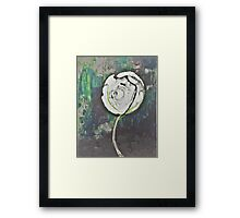 Golden Rose Acrylic Icey Green Framed Print