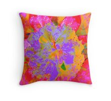 Psychedelic Rhodedendron Throw Pillow