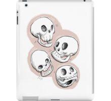 Four Skulls in Pastel Pink iPad Case/Skin