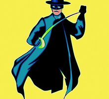 Zorro Pop Art by Florian Rodarte