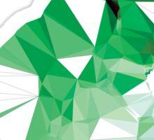 Geometric Animal - Green Bunny Sticker