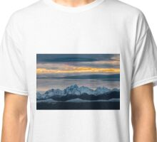 Olympic Mountains Sunset Classic T-Shirt