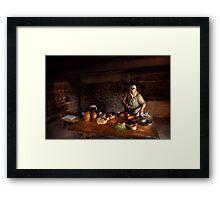 Kirchen - Farm cooking Framed Print