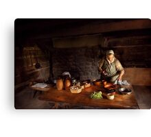 Kirchen - Farm cooking Canvas Print