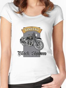 Vincent Black Shadow Women's Fitted Scoop T-Shirt