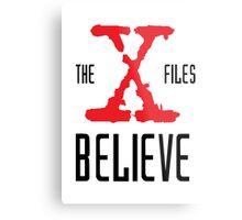 X-Files Believe Metal Print