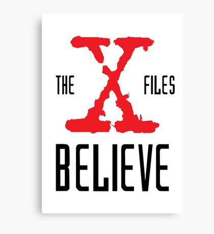 X-Files Believe Canvas Print