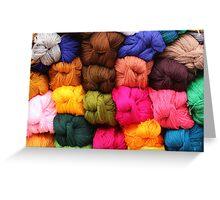 Colorful Yarn at the Market Greeting Card