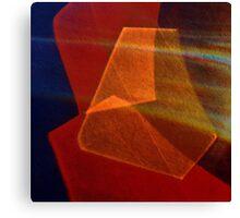 Cut glass in red-orange Canvas Print