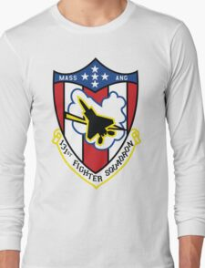 131st Fighter Squadron Emblem ( F-15 ) Long Sleeve T-Shirt