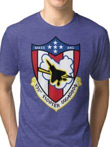 131st Fighter Squadron Emblem ( F-15 ) Tri-blend T-Shirt