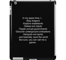 Gamer Pride - Simple Version - Light on Dark iPad Case/Skin