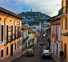 Historic District In Quito, Ecuador by Al Bourassa