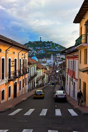 Historic District In Quito, Ecuador by Al Bourassa