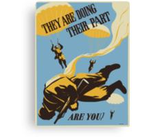 WWII VINTAGE PARATROOPER Canvas Print