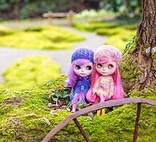 Blythe dolls in the Japanese Garden by Zoe Power