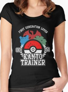 1st Generation Trainer (Dark Tee) Women's Fitted Scoop T-Shirt
