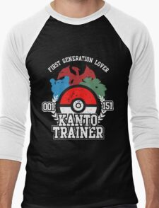 1st Generation Trainer (Dark Tee) Men's Baseball ¾ T-Shirt