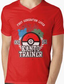 1st Generation Trainer (Dark Tee) Mens V-Neck T-Shirt