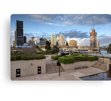 Brisbane from the QLD Museum Forecourt Canvas Print