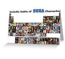 Periodic Table of Sega Characters Greeting Card